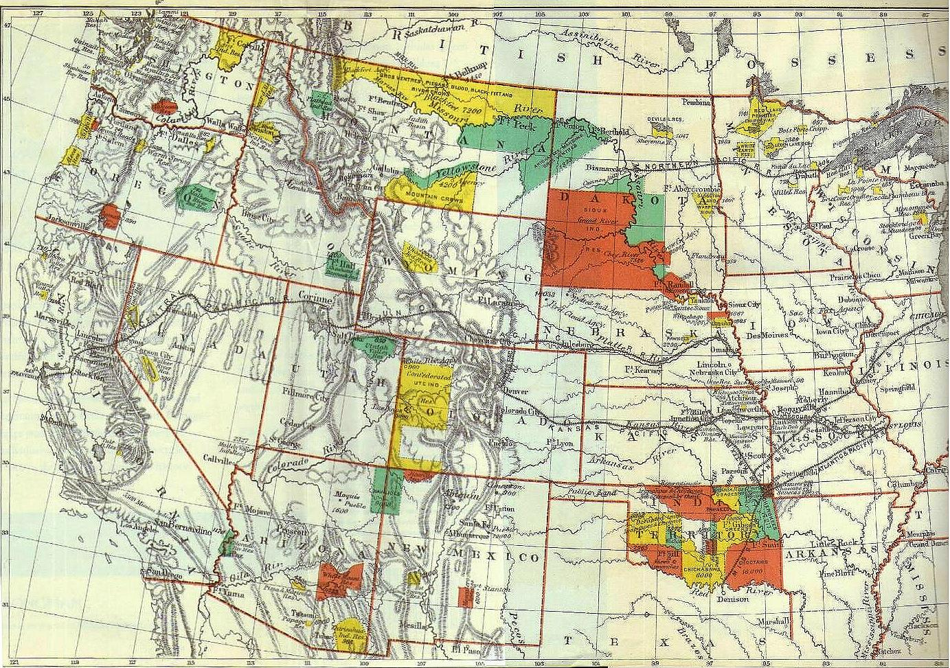 Native American Documents Project - Us indian reservations map